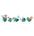 garden flowers flat set vector image vector image