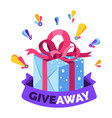 gift box giveaway isolated icon social media or vector image vector image