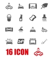 grey car wash icon set vector image vector image