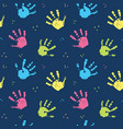 hand stamp seamless pattern paint stain background vector image