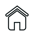 home house silhouette icon vector image vector image