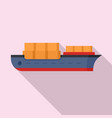 industrial ship icon flat style vector image vector image