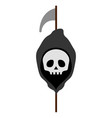 isolated reaper icon with scythe vector image vector image