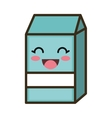 kawaii cartoon milk box vector image vector image