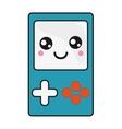 kawaii handheld console icon vector image
