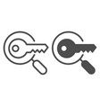 keyword search line and glyph icon magnifying vector image vector image
