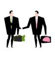 Knowledge sale Transaction exchange money on idea vector image vector image