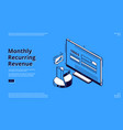 landing page monthly recurring revenue vector image vector image