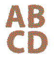 letters ABCD vector image