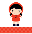 Little Red Riding Hood isolated on white vector image vector image