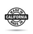 made in california black stamp on white background vector image vector image