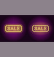 neon banner of yellow sale badge vector image vector image