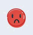 sad emoticon sign on white vector image vector image