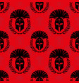 seamless pattern with spartan helmets vector image vector image