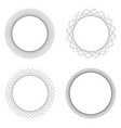 set 4 round decorative border frames design vector image vector image