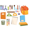 set accessories for school collection of vector image