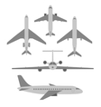 set of planes Passenger planes vector image vector image