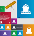 ship icon sign buttons Modern interface website vector image vector image