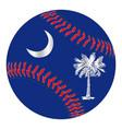 south carolina flag baseball vector image vector image
