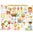 spring clipart set vector image