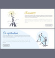 success and co-operation web vector image vector image