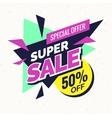 Super sale banner Retro edition vector image