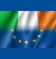 symbol ireland is eu member vector image vector image