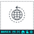 travel icon flat vector image vector image
