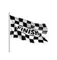 waving flagcing inscription finish vector image