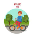 weight loss colorful concept vector image vector image