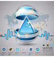Worldwide Water Ecology And Environment vector image