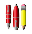 writing pen pencil icon tools design isolated vector image