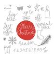 Christmas sale design elements vector image