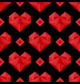 red hearts pattern vector image