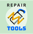 repair tools ruler saw icon creative graphic vector image