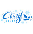 blue christmas party text for invite card vector image