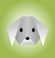 dog from paper of origami vector image