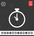 stopwatch icon vector image