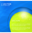 Abstract blue green business design template with vector image vector image