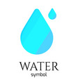 abstract blue water drop symbol creative vector image vector image