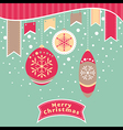 Abstract Christmas card vector image