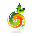 abstract fruit vegetarian leaf swirl logo vector image