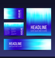 abstract gradient backgrounds set vector image