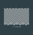 abstract wavy background pattern with optical vector image vector image