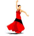 al 0908 flamenco vector image vector image