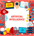 artificial intelligence paper template vector image vector image