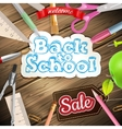 Back to school Sale Label card EPS 10 vector image vector image