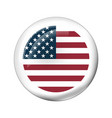 badge with american flag vector image