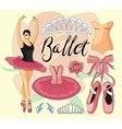 Ballet icon set vector image vector image