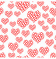 bubbles heart pattern vector image
